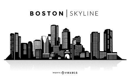 Boston Silhouette Skyline Boston Skyline Silhouette Skyline Silhouette Boston Skyline