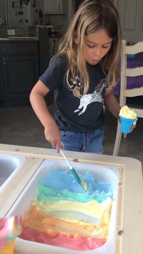 Rainbow Shaving Cream Icecream