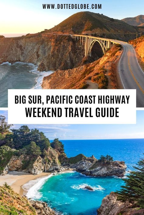 How to Plan a Big Sur Day Trip along Pacific Coast Highway - Best Things to do in Big Sur Pacific Coast Highway, West Coast Road Trip, Northern California Travel, Big Sur California, California Coast, San Simeon California, California Places To Visit, Monterey California, Weekend Trips