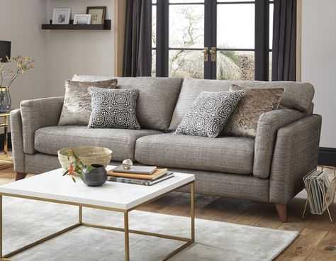 Get The Outstanding Rich Look From Stenson Fabric Sofa Set It S Graceful And Appealing Look Will Impress You And Your Gues Sofa Set Fabric Sofa 3 Seater Sofa