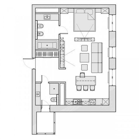 57 Sq M Apartment Apartment Architecture In Law Apartment Apartment Design