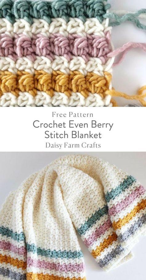 Crochet Even Berry Stitch Blanket - Free Pattern | Cable Knit ...