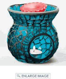 Mosaic Tart Burner - Blue. Large Selection Tart Burners & Candle Warmers.