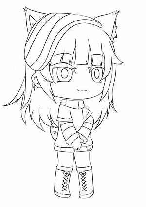 Gacha Life Uwu Cute Coloring Pages Coloring Pages Cute Drawings