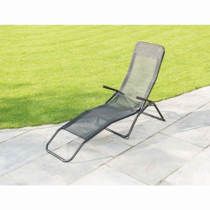 Terrific Premium Siesta Relaxer Bed Black Garden Future Black Creativecarmelina Interior Chair Design Creativecarmelinacom