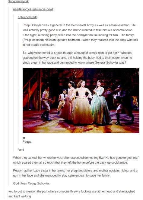 Peggy Schuyler was the real hero all along.