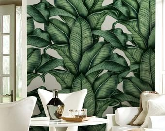 Peel And Stick Removable Nature Wallpaper Self Adhesive Forest Etsy Pine Tree Painting Tree Wall Murals Painting Wallpaper