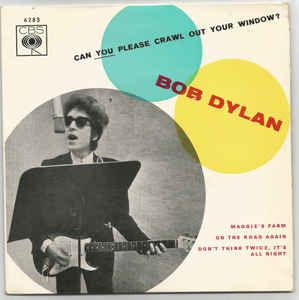 Bob Dylan Can You Please Crawl Out Your Window Discogs Bob Dylan Dylan Bob Dylan Poster