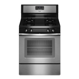 Whirlpool Freestanding 5 Cu Ft Self Cleaning Gas Range Stainless Steel Common 30 In Actual 29 875 In 596 Self Cleaning Ovens Oven Cleaning Gas Range