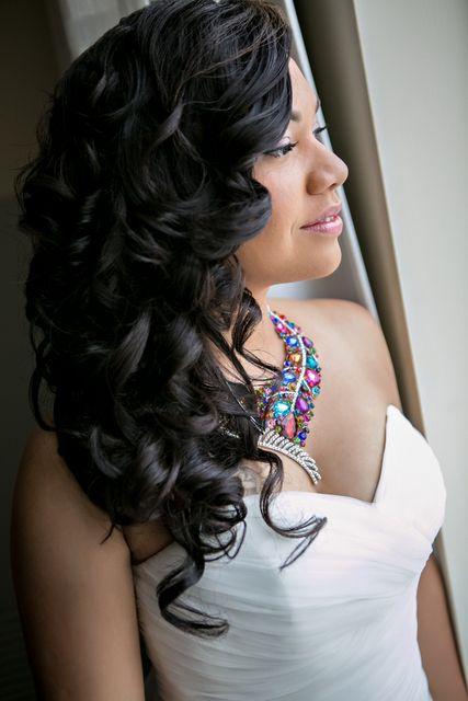 59 Medium Length Wedding Hairstyles You Love to Try | Black wedding ...
