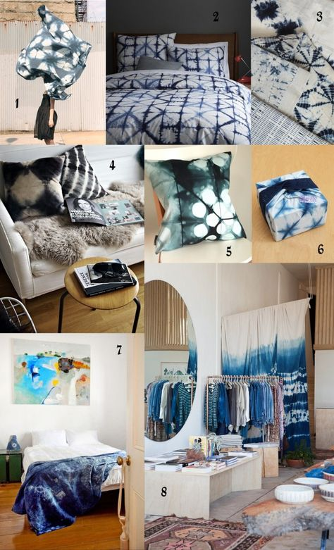 Shibori Samples.  Under the photo collage there are links to sources.