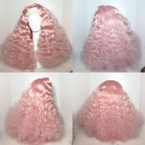 for the cast reveal. Wig Styles, Curly Hair Styles, Natural Hair Styles, Big Curly Hair, Vintage Hairstyles, Pretty Hairstyles, Drag Wigs, Accesorios Casual, Baddie Hairstyles