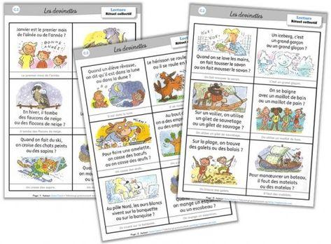 """Lexique cycle 2 - Les rituels-devinettes """"un mot pour un autre"""" - Cycle 2 ~ Orphéecole"""