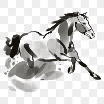Beautiful Running Horse Run Horse Hand Painted Cartoon China Png And Psd Horse Illustration Horse Background Horse Cartoon