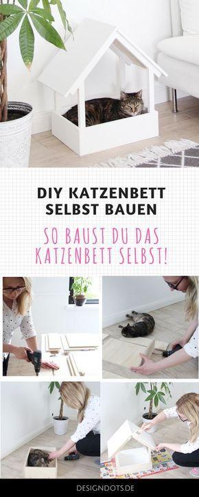 Diy Stillvolles Katzenbett Selbst Bauen Katzen Bett Katzenbett