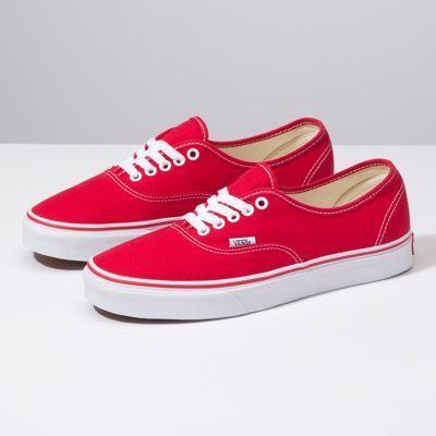 Red vans, Vans authentic, Red vans shoes