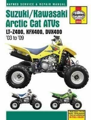 Advertisement Ebay Haynes Shop Repair Manual Suzuki Arctic Cat Kawasaki Quadsport 400 Dvx400 Kfx400 Repair Manuals Suzuki Repair