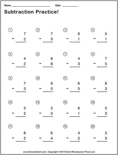 Simple Subtraction Worksheets With Pictures Kindergarten Subtraction Worksheets Touch Math Worksheets Kindergarten Addition Worksheets