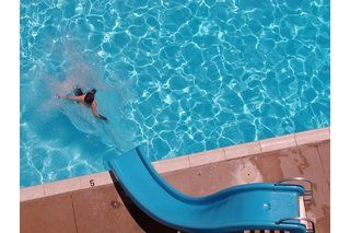 How To Make A Fiberglass Slide Ehow Swimming Pool Slides Pool Water Slide Pool Slide Diy