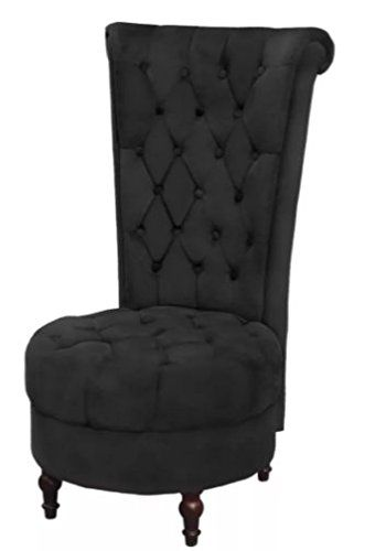 Comfyleads Sofa Chair High Back Black Thickly Padded Seat And Backrest Single Seater Sofa Living Room Upholstery Sofa Chair