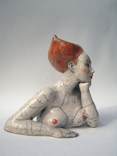 She creates figurative sculptures in a contemporary yet a little offbeat style, osc.