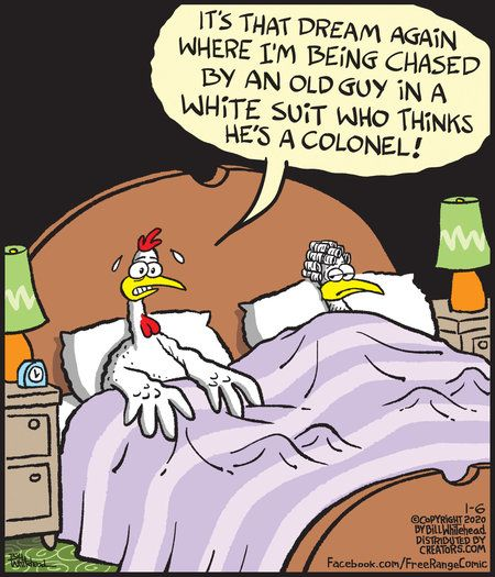 Free Range By Bill Whitehead For January 06 2020 Gocomics Com Funny Meme Pictures Funny Toons Chicken Jokes