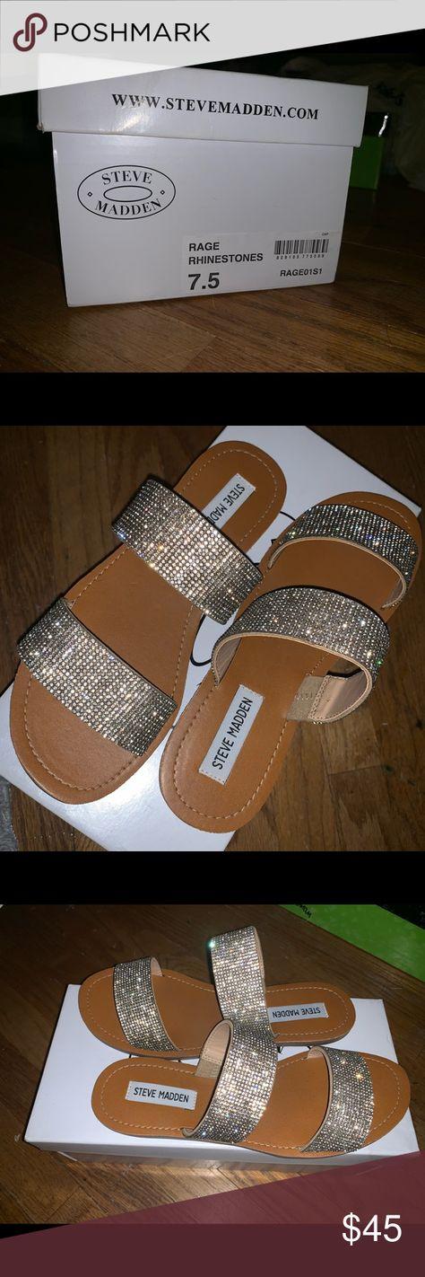 a3d6950cb Steve Madden Rage Rhinestone Sandals in Size 7.5 Selling these Steve Madden  rage rhinestones sandals in