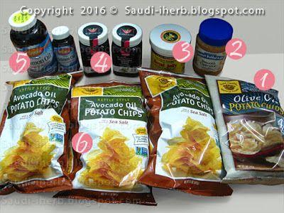 شيبس بطاطس وعسل غذاء ملكة النحل كبسولات السلمون من موقع اي هيرب Food Reviews Snacks Potato Chips
