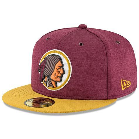 Washington Redskins New Era 2018 NFL Sideline Home Historic 59FIFTY Fitted  Hat – Burgundy Gold b7454923a