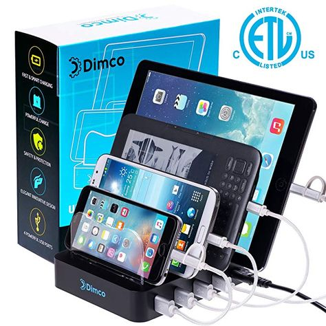 Usb Fast Charging Station Dock For Multiple Devices Le Iphone Ipad Smart Android 4 Port Charger Fire