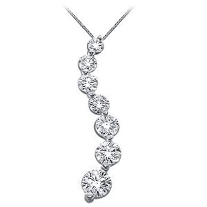 This beautiful journey diamond pendant has a total diamond carat this beautiful journey diamond pendant has a total diamond carat weight of 200 ct and features 7 evs2 round cut diamonds beautifully set pinterest aloadofball Gallery