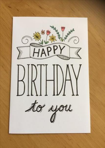 Birthday Happy Card Handmade Simple 41 Ideas Birthday Birthday