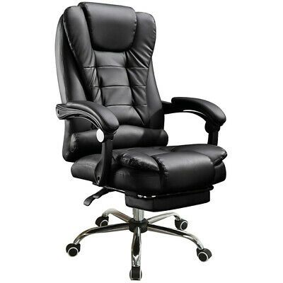 Office Chair Leather Desk Gaming Chair With Massage Function Adjust Seat Height Affilink In 2020 Swivel Office Chair Leather Office Chair Reclining Office Chair