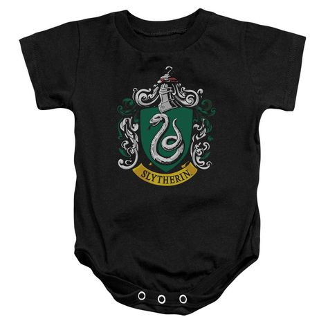 "Harry Potter Baby Bodysuit /""Slytherin House Crest/"" Baby grow Vest Hogwarts"