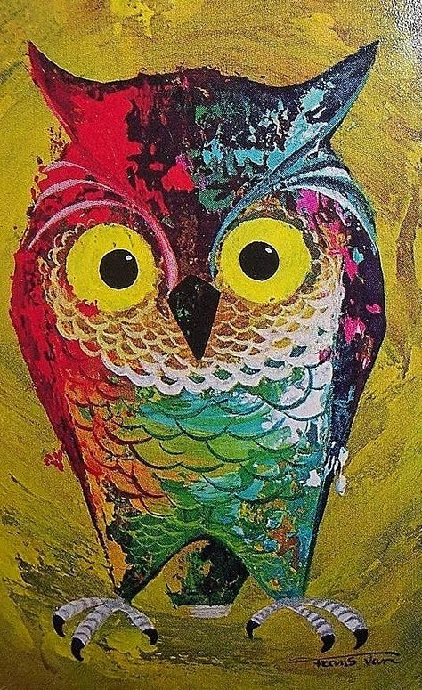Owl likes color