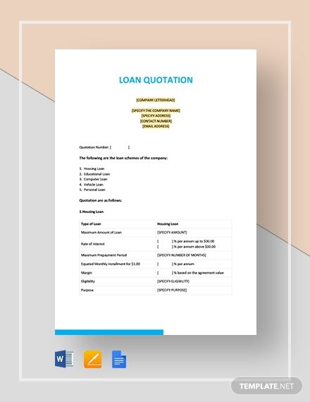 Free Sample Quotation Template In 2020 Quotations Quotation Template Word Quotation Sample