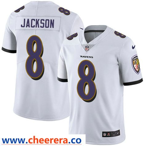Nike Baltimore Ravens #8 Lamar Jackson White Men's Stitched NFL  for sale