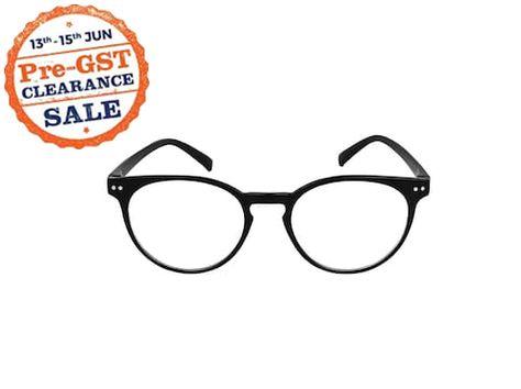 6b33e05a688 David Martin Anti-Glare Black Full Rim Round Eyeglass Frame