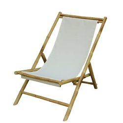 Atalya Reclining Folding Bamboo Relax Sling Beach Chair Folding Beach Chair Sling Chair Bamboo Outdoor