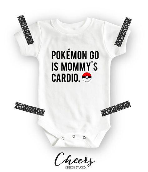 832953de Pokemon Go Onesie - Pokemon Go is Mommy's cardio - funny baby clothes with  pockemon