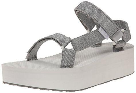 Teva Womens W Flatform Universal Sandal Silver 6 M US