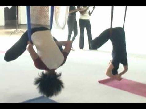 Aerial Yoga: Your Cirque Du Soleil Workout!   Yoga poses