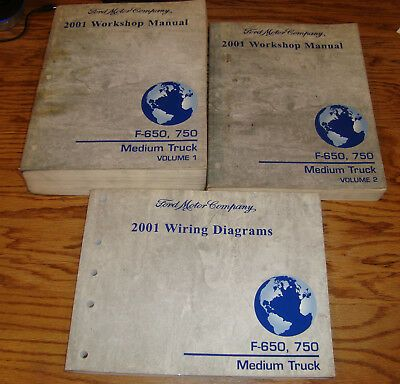 2001 Ford F 650 F 750 Medium Truck Shop Service Manual 1 2 Wiring Diagrams Ebay Repair Manuals Parts And Accessories Ford F650