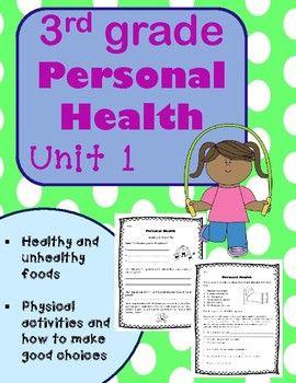 3rd Grade Health Unit 1 Personal Health Health Unit Personal