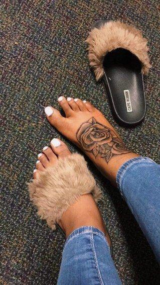 Pink flower tattoo on foot - #Flower #foot #Pink #Tattoo