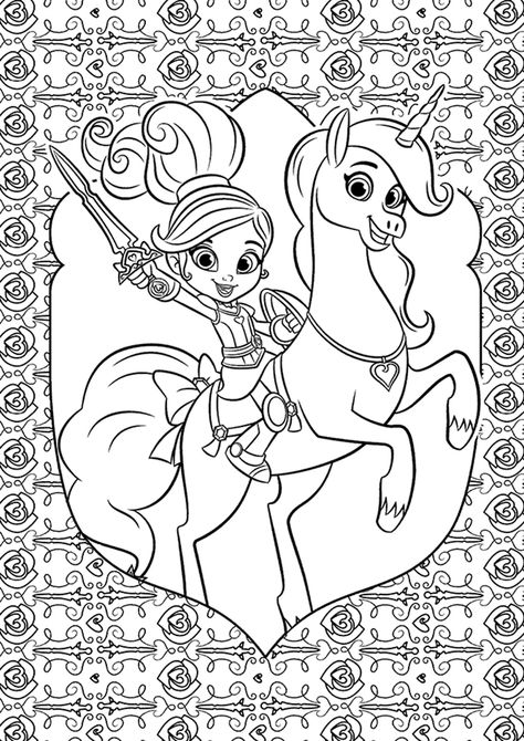 Nella And Trinket Nick Jr Coloring Pages Coloring Pages