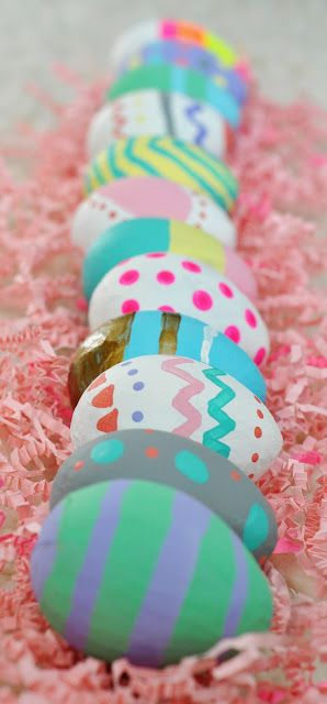 painted craft eggs
