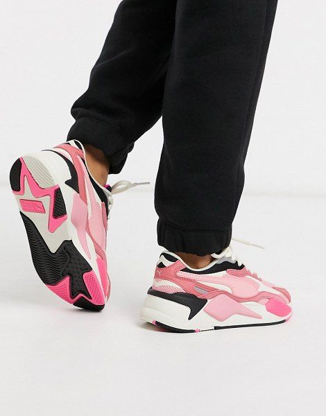 Puma Rs-X Puzzle Sneakers In Pink