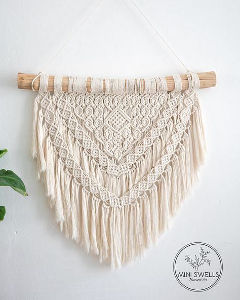 """Macrame Wall Hanging - Made to Order The meaning of Malu is """"Protection, shelter; peace"""" Expected delivery 1-2 weeks! ▴ D E S C R I P T I O N This Wallhanig is made on Liana wood and handcrafted with freehand patterns so the end result is always unique. This wall hanging will give your"""