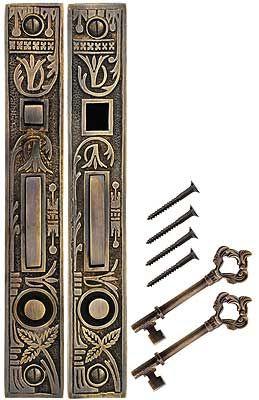 Oriental Bit Key Double Pocket Door Mortise Lock Antique By Hand In 2020 Double Pocket Door Mortise Lock Pocket Door Pulls